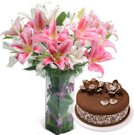 Send Online Flowers And Cakes To Hyderabad
