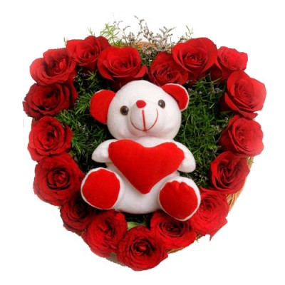 Send Soft Toys with Flowers to Hyderabad